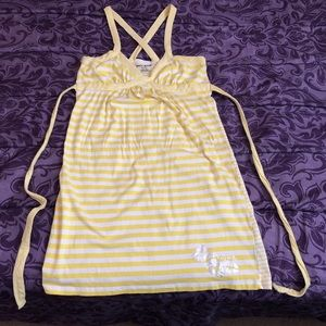 DKNY yellow summer dress. Size XS